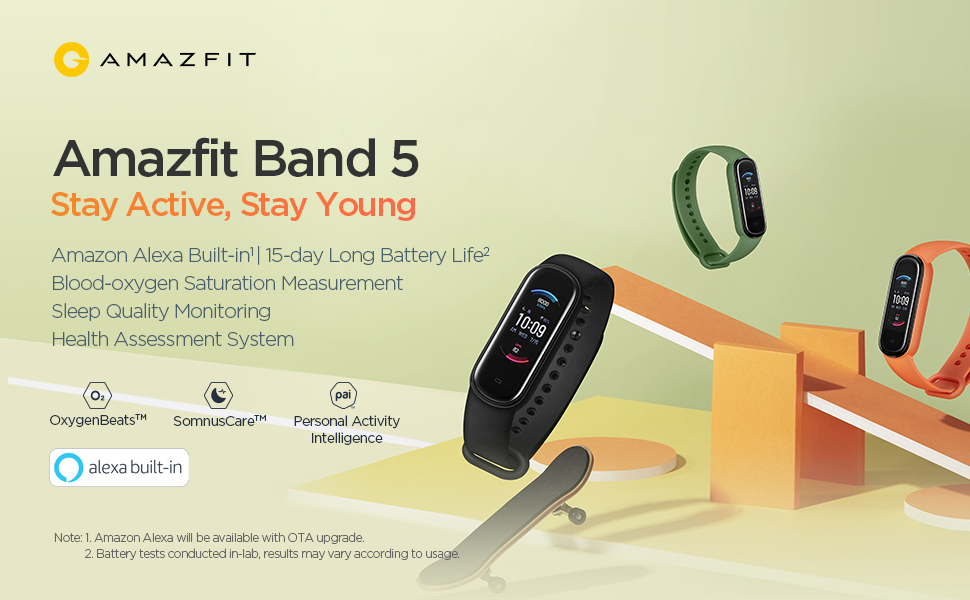 Amazfit Band 5 - Stay Active, Stay Young
